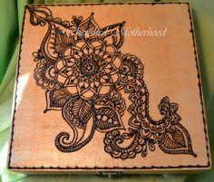 Henna Keepsake Box, Keepsake Box. $35.00, via Etsy.