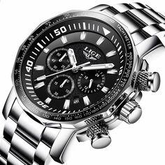 Relogio Masculino 2018 LIGE Pánské hodinky Top značka Luxusní módní  křemenné hodiny Pánské všechny oceli Vodotěsné sportovní vojenské hodinky 16fcc5ffd6a