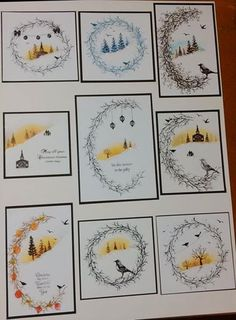 was inspired when the rep showed me some lovely cards made using card-io stamps. these are my efforts by Sue @ Crafty Urchins. Chrismas Cards, Create Christmas Cards, Christmas Card Crafts, Xmas Cards, Holiday Cards, Fall Cards, Winter Cards, Card Making Inspiration, Making Ideas