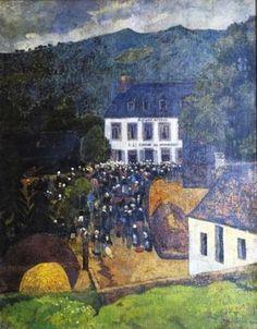 1903 Fair Chateauneuf du Faou - Paul Serusier. Titulo original: La foire à Châteauneuf du Faou