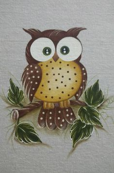 Quadros Pebble Painting, Tole Painting, Fabric Painting, Owl Art, Bird Art, Farm Animal Coloring Pages, Pintura Country, Art Drawings For Kids, Country Paintings
