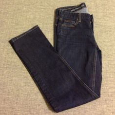 "SALE J. Crew Matchstick Jeans 27 Petite This pair of J. Crew matchstick jeans is in excellent used condition. In a classic dark wash, this is a closet staple for sure. Cotton with some stretch. Medium rise with a straight leg. I am 5' 6"" and the 27S hits me right at the ankle. No trades. If you have questions about these jeans please ask by leaving a comment. Please note the 27S stands for 27 Short, indicating petite sizing. 8 inch rise. J. Crew Jeans Straight Leg"