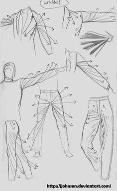 365 dias desenhando: Tutorial, como desenhar roupas.