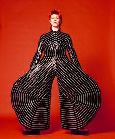 Striped bodysuit for Aladdin Sane tour, 1973 Design by Kansai Yamamoto Photograph by Masayoshi Sukita © Sukita The David Bowie Archive 2012