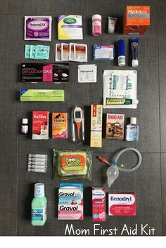 Wondering what to bring in your travel first aid kit? Here is my first aid checklist for the best family first aid kit. From snot-suckers to antidiarrheals, this kit has got you covered! There is no such thing as being over-prepared when it comes to trave Road Trip Essentials, Road Trip Hacks, Carry On Bag Essentials, Road Trip Checklist, Road Trip Food, Beach Essentials, Travel Kits, Free Travel, Travel Hacks