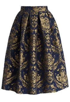Glorious Baroque Midi Skirt - Skirt Buy 1 Get 1 HALF - Skirt - Bottoms - Retro, Indie and Unique Fashion Unique Fashion, Modest Fashion, Fashion Fashion, Ladies Fashion, Fashion Tips, Fashion Trends, Fashion Design Inspiration, Mode Inspiration, Calf Length Skirts
