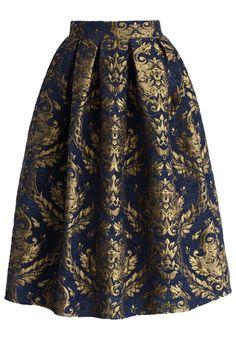 Glorious Baroque Midi Skirt