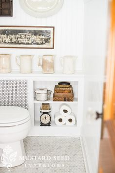 Vintage White Bath Makeover