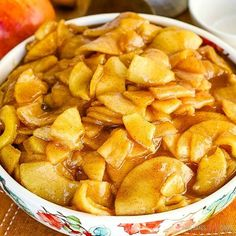 Fried Apples - With just a few simple ingredients, you can turn plain apples into a delicious side dish for dinner or a tasty addition to breakfast! Quick Apple Dessert, Healthy Apple Desserts, Fruit Recipes, Apple Recipes, Snack Recipes, Cooking Recipes, Healthy Recipes, Easy Recipes, Apple Pie Bars