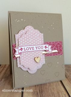 Valentine's Day card made using the Love Blossoms stamp set from Stampin' Up! by Kristin Kortonick