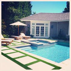 Backyard pool beauty