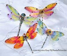 Custom Summer Fairy  Wing or Dragonfly Hair by MyBeadedBohemian, $20.00