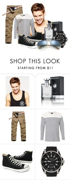 """""""Sport men!"""" by anitafonseca ❤ liked on Polyvore featuring Toni&Guy, Bulgari, Witchery, Converse, Gucci, Ray-Ban, men's fashion and menswear"""