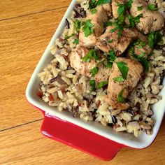 Chicken Souvlaki with Wild and Brown Rice
