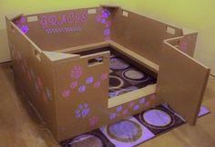 20 Comfy and Classy Whelping Box Ideas 17 Dog Whelping Box, Whelping Puppies, Puppy Care, Dog Care, Puppy Box, Dog Birth, Cage, Puppy Nursery, Pregnant Cat