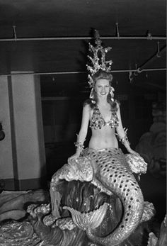 Natalie Sullivan of Sarasota, Florida, makes a realistic and breathtaking Mermaid, as she enacts her role in the Ringling Brothers, Barnum and Bailey Circus, now in session at Madison Square Garden. 1944