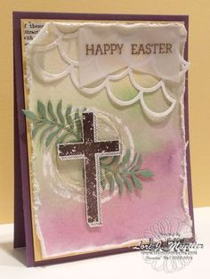 StampinDreams.com; Stampin Up; Blessed By God; easter card; watercolor