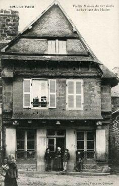 Maisons du bourg le Faou Brest, Brittany, France, House Styles, Aquitaine, Old Houses, Plunge Pool, Wayfarer, Bretagne