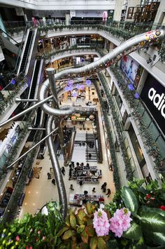 Five-story slide at shopping mall wows the public with safety concerns raised