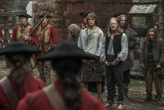 """Official Still of Episode 115 """"Wentworth Prison"""" featuring Jamie (Sam Heughan) and Taran MacQuarrie in Outlander on Starz"""
