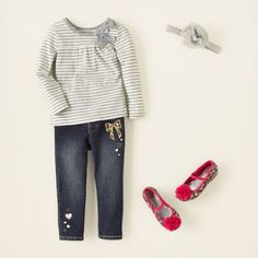 baby girl - outfits - lines & leopard | Children's Clothing | Kids Clothes | The Children's Place