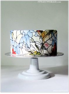 Stained Glass Wedding Cake - Maggie Austin Cake-Love this!!!!!!