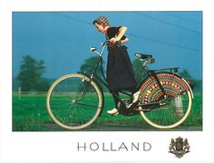 In Staphorst, in the Netherlands, women crochet these guards for their back bicycle wheels. Not simply decorative, they protect their dresses from getting stuck in the spokes.