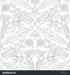 Traditional Arabic ornament seamless for your design. Floral ornamental seamless pattern for coloring book, ceramic tile, desktop wallpaper, interior decoration, graphic design and textile. Tile Patterns, Pattern Art, Floral Patterns, Colouring Pages, Coloring Books, Tie Dye Crafts, Persian Pattern, Turkish Art, Tile Art