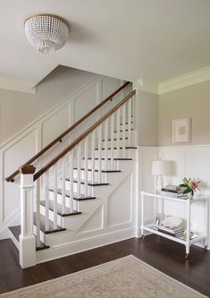Staircase Board And Batten - Design photos, ideas and inspiration. Amazing gallery of interior design and decorating ideas of Staircase Board And Batten in entrances/foyers by elite interior designers. Home Renovation, Home Remodeling, Bedroom Remodeling, Staircase Remodel, Entrance Foyer, Entryway, Basement Entrance, House Entrance, Foyer Decorating