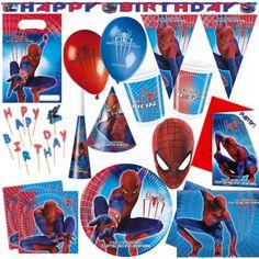 Amazing Spiderman Boys Childrens Superhero Birthday Party Tableware Decorations