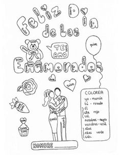 Students will love coloring this original hand drawn Valentine's Day themed color by conjugation, while practicing the stem changing verb querer (to want). Perfect for a substitute on a day off. No preparation needed, just print and go!