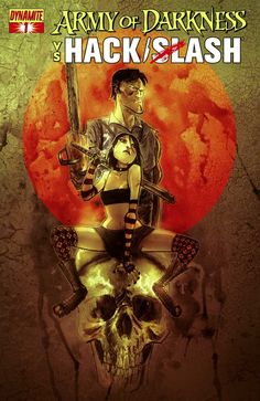 Army of Darkness vs. Hack/Slash #1. Ben Templesmith cover variant cover.