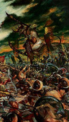 A Beastmen Horde on the warpath