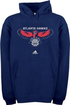 adidas Atlanta Hawks Navy Blue Primary Logo Hoody Sweatshirt (Medium)