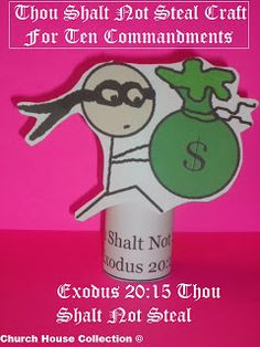 Church House Collection Blog: Thou Shalt Not Steal Toilet Paper Roll Craft For The 10 Commandments - Exodus 20:15
