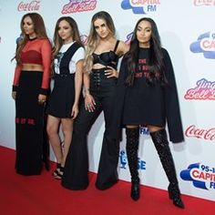 Little Mix pose up a storm at the Capital FM Jingle Bell Ball