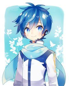 Vocaloid Kaito, Kaito Shion, Anime Chibi, Kawaii Anime, Cute Anime Guys, Cute Anime Couples, Anime Girls, Anime Kunst, Anime Art