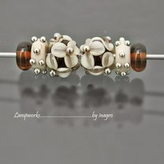 marasco  n.20  set of 6 pcs handmade lampwork beads by inagro