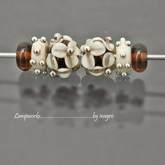 marasco  n.20  set of 6 pcs handmade lampwork beads by inagro