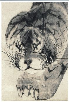 "catonhottinroof: ""  Nagasawa Rosetsu Tiger """