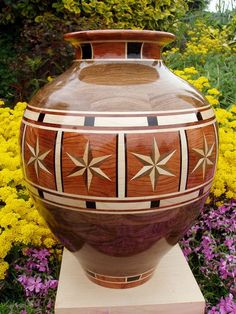 Two Tone Stars Vase