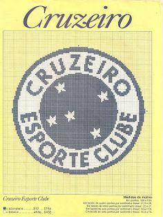 gráficos de ponto cruz emblemas de futebol, cruzeiro, são paulo, palmeiras, botafogo