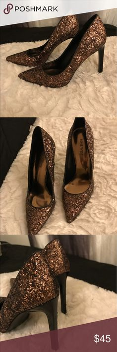 Nine West Stilettos Beautiful 4 inch golden pair of Nine Wests. Worn only once! Nine West Shoes Heels