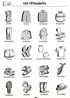 les vêtements et trois mots croisés. Core French, French Class, French Lessons, Languages Online, Foreign Languages, How To Speak French, Learn French, French Conversation, French Worksheets