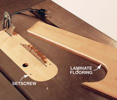 AW Extra 11/28/13 - Laminate Flooring for Zero-Clearance Inserts - Popular Woodworking Magazine