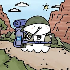 One Ghost Alone 7 Days No Candy No Wifi Survivorghost • • #spookymccute #survivorman #camping #doodle #kawaii #hiking #nationalpark