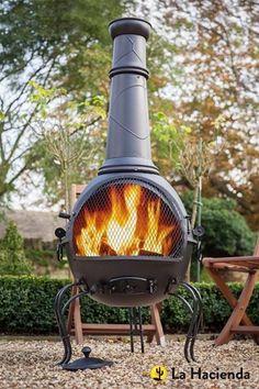 Cast Iron Steel Chimenea Chiminea Patio Heater BBQ Fire Pit Garden Outdoor  NEW In Garden U0026