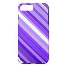 Purple and White Striped Pattern