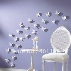 14 decalcomanie delle decorazioni della stanza della decorazione della casa della farfalla dell'autoadesivo