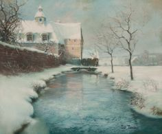 Winter by Frits Thaulow Norwegian painter, 1847-1906